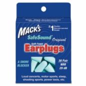 Mack's Original Soft Foam Plugs - 30 Pair Pack with Free Travel Case